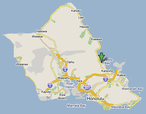 Kaneohe Bay Hawaii Map.Bay View Retreats Kaneohe Bay Oahu Hawaii Bed And Breakfast